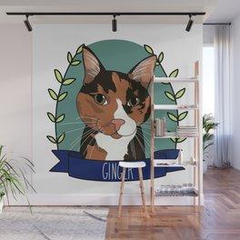 Ginger Cat Wall Mural