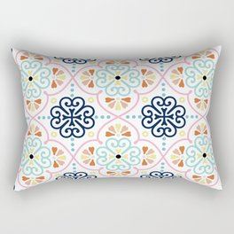 Pastel Moroccan Pattern Rectangular Pillow