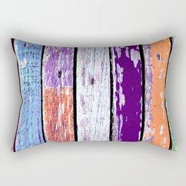 Texture of colored grunge wood 2 Rectangular Pillow
