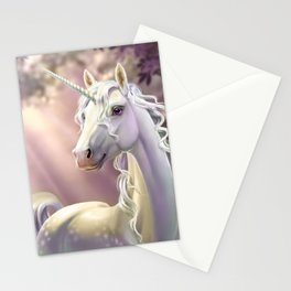 Unicorn in the forest Stationery Cards