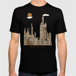Detroit skyline vintage  T-shirt