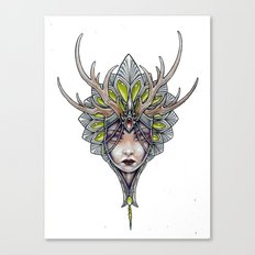 crowned girl Canvas Print