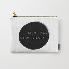 NEW DAY NEW GOALS Carry-All Pouch