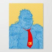 donkey kong Canvas Prints featuring Donkey Kong by Ismael Álvarez