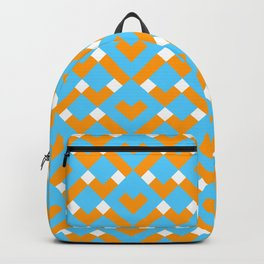 Graphic Hearts Pattern Backpack