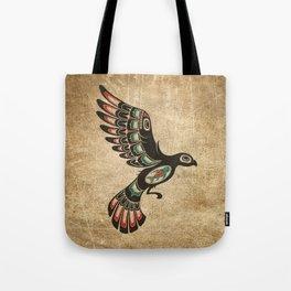 Red and Green Haida Spirit Flying Bird Tote Bag