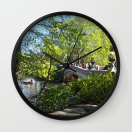 Bow Bridge- Central Park- NYC Wall Clock