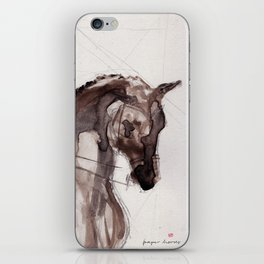 Horse (Dressage sketch) iPhone Skin