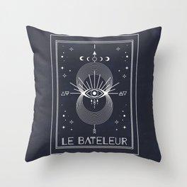 The Magician or Le Bateleur Tarot Throw Pillow