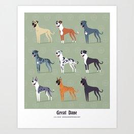 Great Danes Art Print