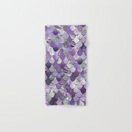 Mermaid Purple and Silver Hand & Bath Towel