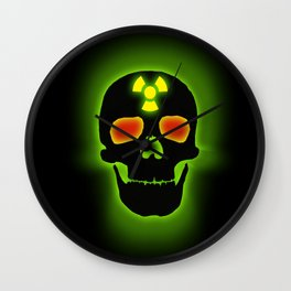 TOXIC SKULL Wall Clock