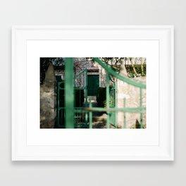 Croatian village on Hvar Framed Art Print