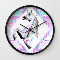 kris tate Wall Clocks featuring ▲TWIN SHADOW ▲by Vasare Nar and Kris Tate  by Kris Tate