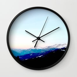 Mountain views abstracted to color blocks Wall Clock