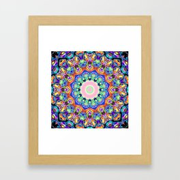 Abstract Spectral Pattern Framed Art Print