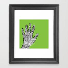 Handprint Framed Art Print