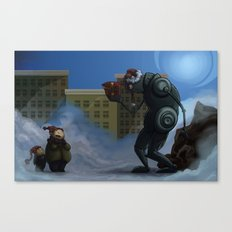 Robots Aint Scary Canvas Print