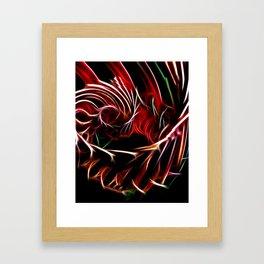 Flame Vortex Framed Art Print