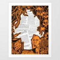 Land of Iz/Place of Wuz Art Print
