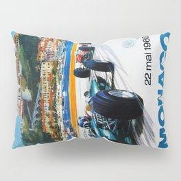 Gran Prix de Monaco, 1966, original vintage poster Pillow Sham