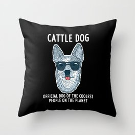 Official Dog Of The Coolest People On The Planet Throw Pillow