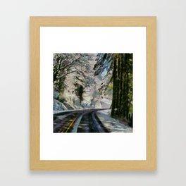 winter is just around the corner Framed Art Print