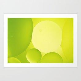 Green bubbles Art Print