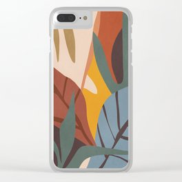 Abstract Art Jungle Clear iPhone Case