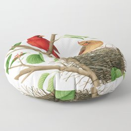 Northern Cardinals Floor Pillow