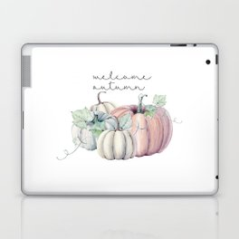welcome autumn orange pumpkin Laptop & iPad Skin