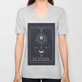 Le Soleil or The Sun Tarot Unisex V-Neck