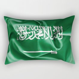 Saudi Arabia Flag Rectangular Pillow
