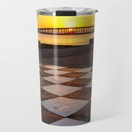Checkerboard Sunset Travel Mug