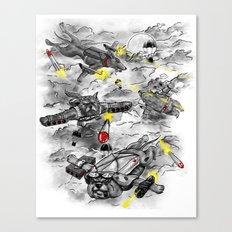 Dog Fight Canvas Print