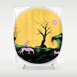 Pack of wolves Shower Curtain