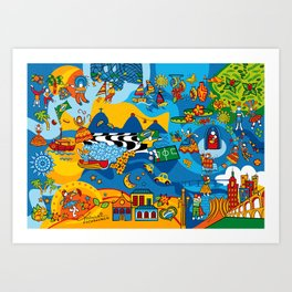 Mix Brazil Art Print