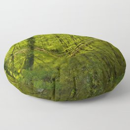 Forest lake pure relaxation for the Soul Floor Pillow