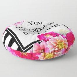 floral stripe Floor Pillow