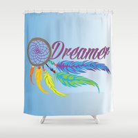dreamer Shower Curtains featuring Dreamer by Salina Ayala