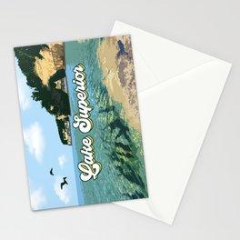Lake Superior Retro Stationery Cards