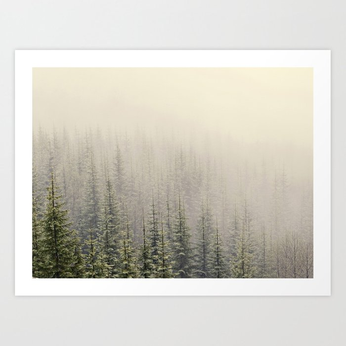 Mountain Haze Art Print