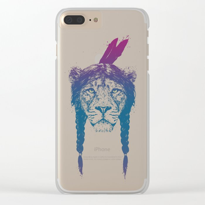 Warrior lion II Clear iPhone Case