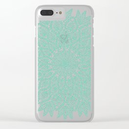 Delicate Teal Clear iPhone Case