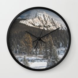 Canada's Rocky Mountains Wall Clock