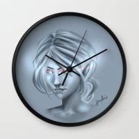 elf Wall Clocks featuring Elf by JemyArt