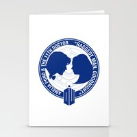 amy pond Stationery Cards featuring Doctor Who pals: Matt Smith & Amy Pond by logoloco