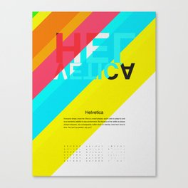 Helvetica | Types of People Canvas Print