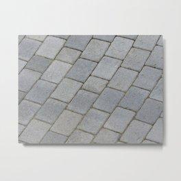 TEXTURES -- Pavingstone Pattern Metal Print