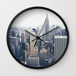 New York City and the Empire State Building Wall Clock